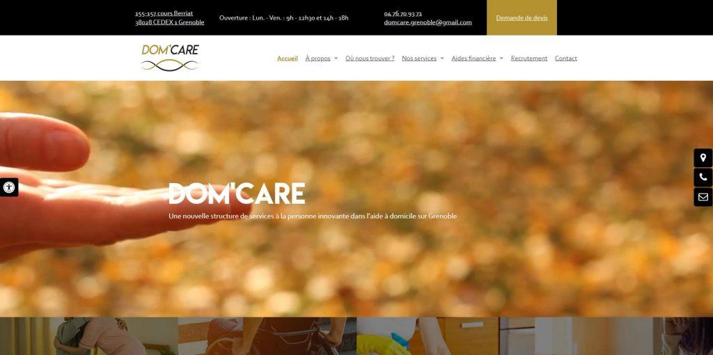 Aide à domicile sur Grenoble DOM'CARE